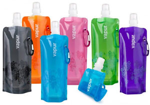 BOGOF Vapur Reusable Collapsible 16.9 oz Alcohol Flask Water Bottle TWO FOR ONE