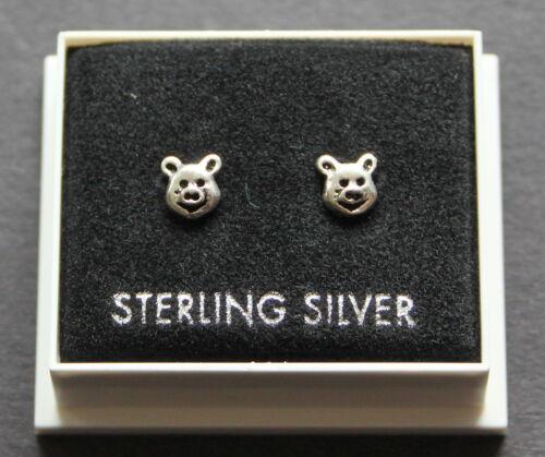 BUTTERFLY BACKS  ST 16 PIGGY HEAD 1 DESIGN STUD EARRINGS STERLING SILVER 925
