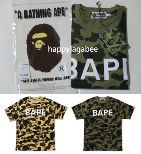 S-3XL A BATHING APE Men/'s 1ST CAMO BAPE TEE 2colors From Japan New