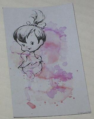 """Pebbles Flintstone /""""In Watercolor/"""" Floppy Magnet Approx 2/"""" x 3.25/"""""""
