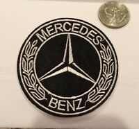 Mercedes Benz Logo/ Emblem Embroidered Iron On Patches. 3 Round Nice