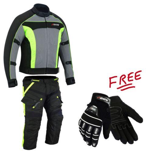 Combinata Moto Giacca Pantaloni Tessile combinata per Moto Biker tessile STATION WAGON Taglia s-5xl