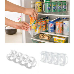 Beers-Soda-Cans-Holder-Storage-Kitchen-Organization-Fridge-Rack-Plastic-Space