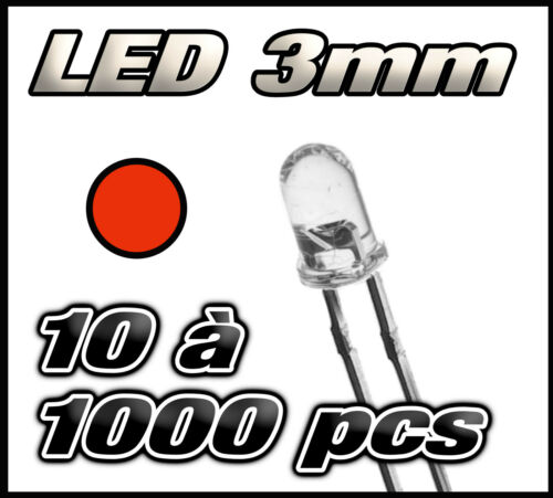 "E205# /""free shipping/"" red led 3 mm 10 to 1000 pcs"
