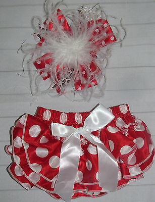 NEW baby bloomers diaper cover ruffles bow 0-24 months black Halloween HEADBAND