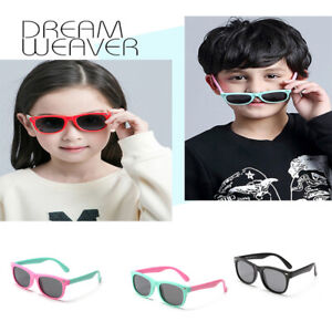 d9e85b9c0304 Image is loading Kids-TPEE-Rubber-Flexible-Polarized-Sunglasses-Boys-Girls-