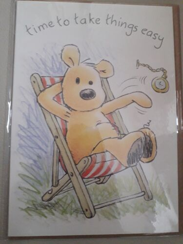 Newton/'s Law Happy Retirement Rest Card Bear Cute Comedy