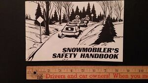 1978 Snowmobiler's Safety Handbook - Bilingual - Very Good Condition (US/CDN)