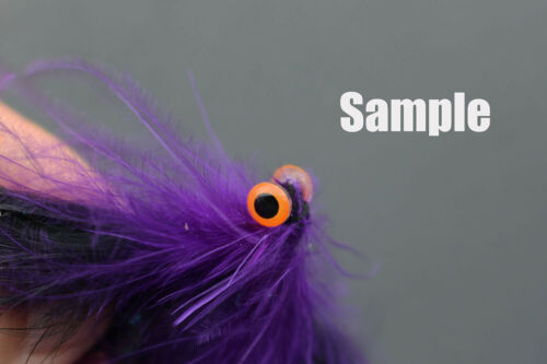 200 pcs 5 sizes Orange 3D Sticky Fishing Lure Eyes Realistic Fly Tying Materials