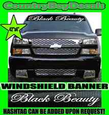 BLACK BEAUTY Windshield Brow Vinyl Decal Sticker Truck Car Turbo Boost Hate GT
