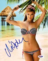 NINA AGDAL SIGNED 8x10 PHOTO SPORTS ILLUSTRATED SWIMSUIT MODEL YOUNG PSA/DNA