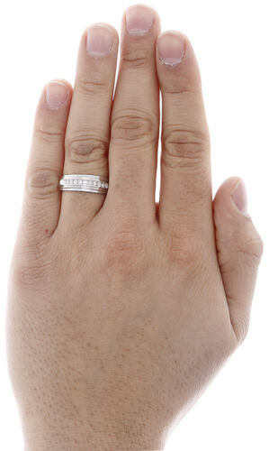Mens Diamond Wedding Band .925 Sterling Silver Engagement Ring 0.25 Ct.