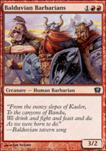 MTG 9th Edition NM Balduvian Barbarians X4 *CCGHouse* Magic
