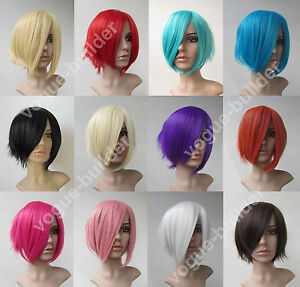 Heat-resistant-Short-Flip-Shaggy-base-Cosplay-Full-Wig-12-Color