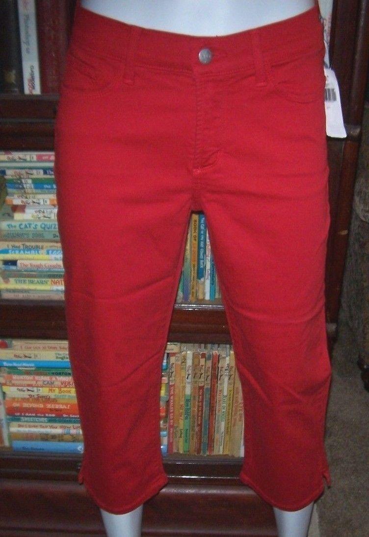 NYDJ Not Your Daughters Jeans Hayden CROP capri pants CRIMSON RED 4P 8P 10P 14P