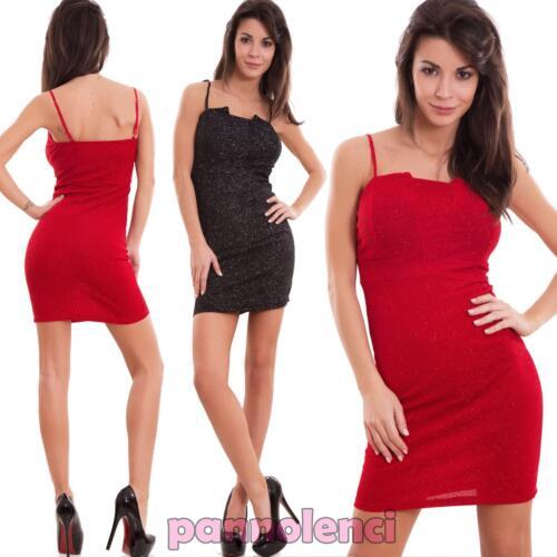 Vestito donna miniabito corto tubino brillantini elasticizzato hot nuovo AS-5106