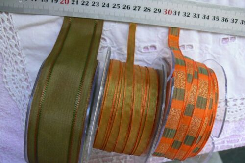 Los tonos naranja y verde mezcla de 6-38mm Ancho 2 3 5 y 10 metros 3 estilos de elección de diseño