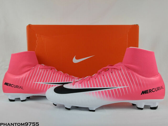 best website c4457 c8d05 Nike Mercurial Victory VI DF FG Soccer Cleats Racer Pink Mens Size 13  903609-601