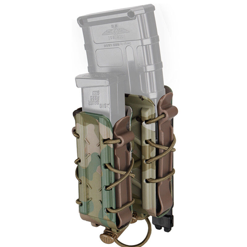 TMC Rifle Mag Carrier 9mm Double Molle Magazine Pouch Pistol Airsoft Hunting