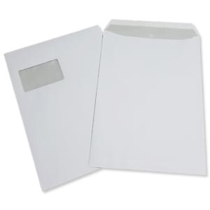 1000 St Versandtaschen DIN A4 C4 weiß mit Fenster Briefumschläge Kuvert HK Post