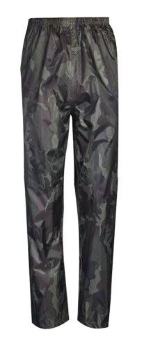 REGNO Unito Nuovo Impermeabile Pioggia Sopra I Pantaloni Mimetico Da Passeggio Pesca Lavoro Uomo Donna