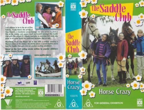 THE SADDLE CLUB HORSE CRAZY VHS VIDEO PAL RARE FIND