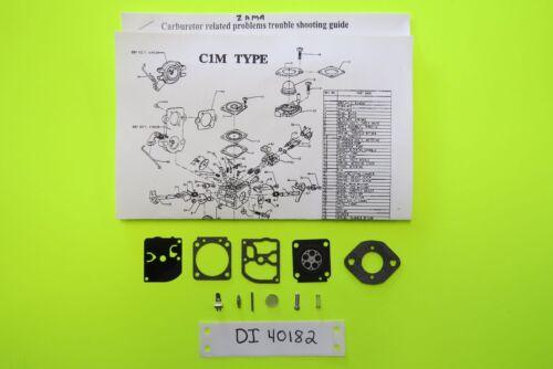 Homelite Ryobi Chainsaw 38 45cc Zama C1M-H57 H58A  H58B RB-57 Carb Kit New