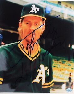 Johnnie LeMaster  Athletics Giants Signed 8x10 Autographed MLB Photo 17H