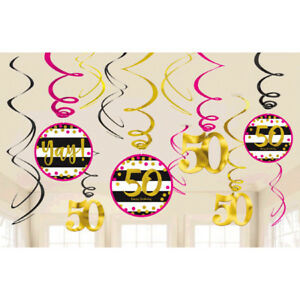 Image Is Loading 50th Celebration Value Pack Swirl Decorations Birthday