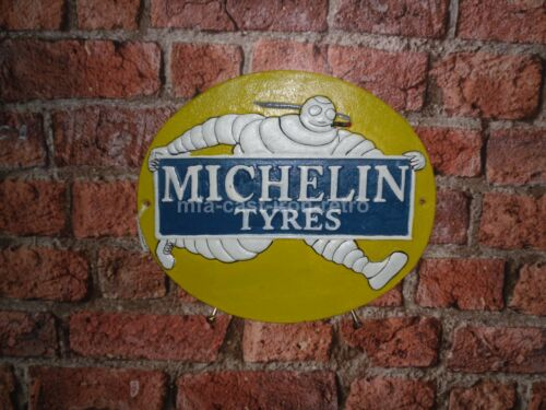 Cast Iron Oval Michelin Tyres Wall Plaque