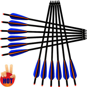 """Details about  /12x 16-22/"""" Archery Aluminum Crossbow Bolts Arrows for Outdoor Targeting Hunting"""
