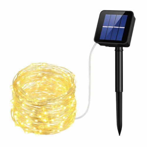 Outdoor Solar Powered 33Ft 100 LED 10M Copper Wire Light String Fairy Xmas Party