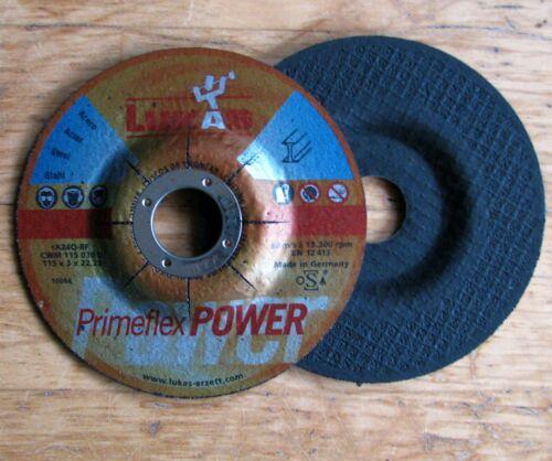 5x schruppscheibe Lukas 115 x 3 x 22,2 primeflex power pour acier Angle Meuleuse