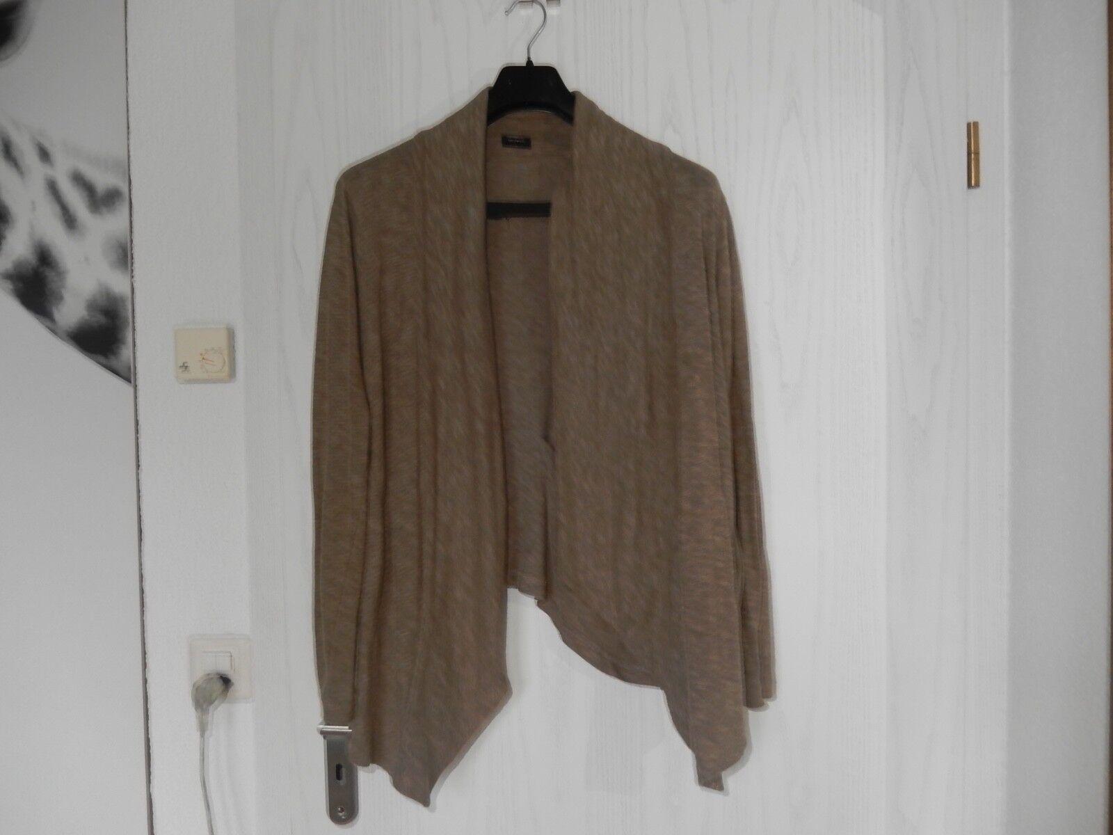 Sandwich Cardigan Knitted Jacket Brau SIZE L LAYERED TOP