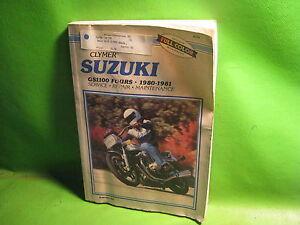 Tools & Equipment Clymer Service Manual 80-81 SUZUKI GS1100E ...