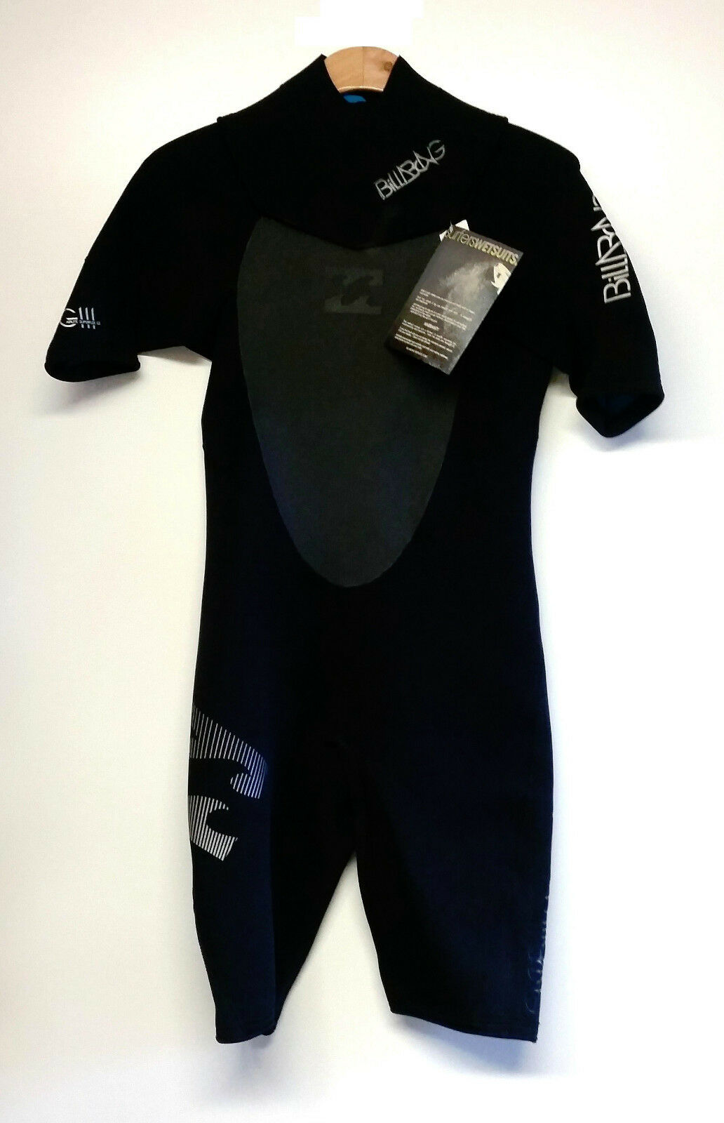 BILLABONG Men's 2mm REVOLUTION GBS S S Springsuit - BLK - Size MS - NWT