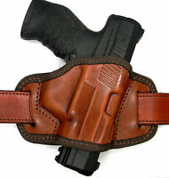 Brown Leather Semi-molded Quick Draw Open Top Rh Belt Holster For Steyr M9