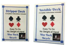 London Magic Works BLUE Stripper Deck, Invisible Deck Over 125 Trick 2 Decks