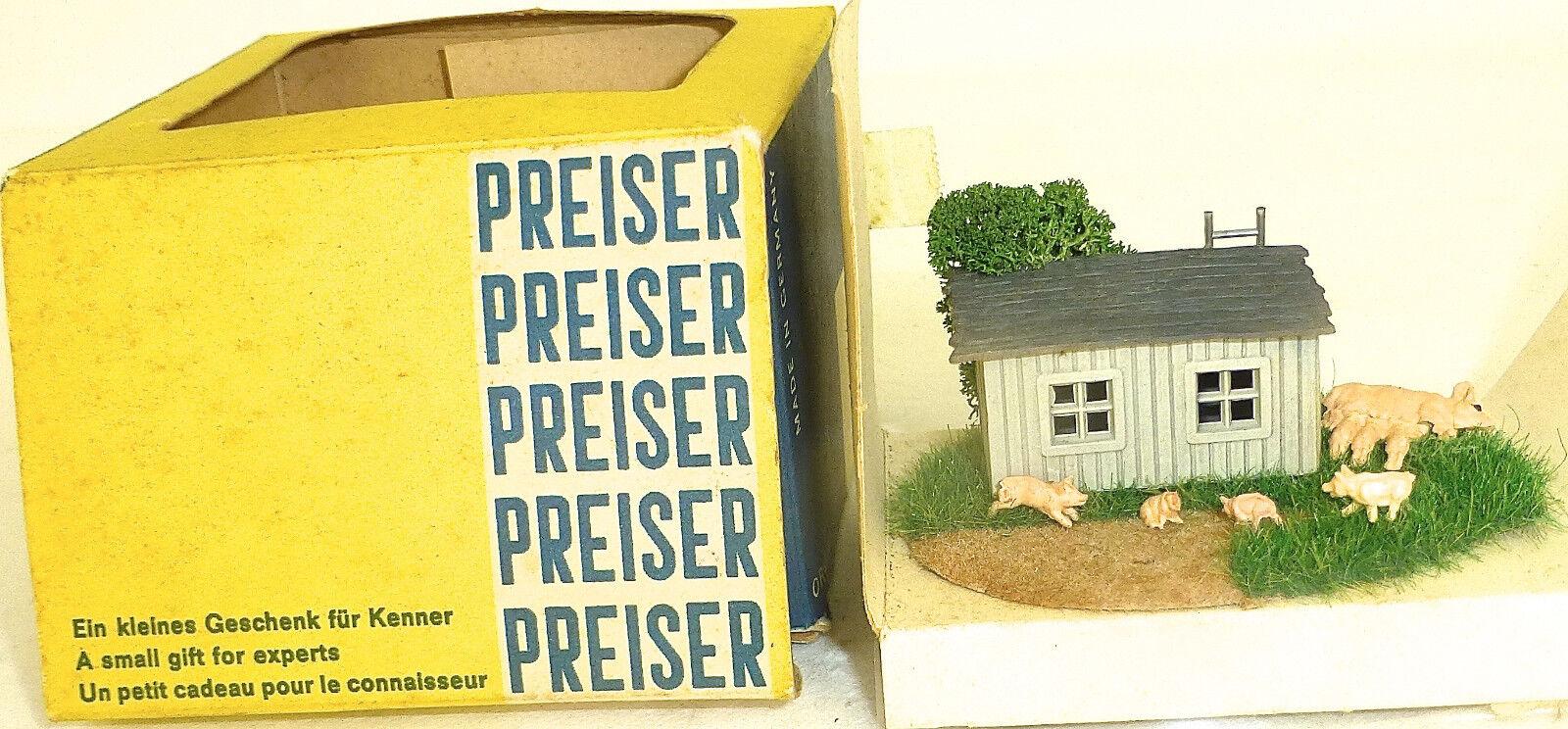 Porcile Minidiorama Geschenkset Preiser 60er Jahre H0 Å √