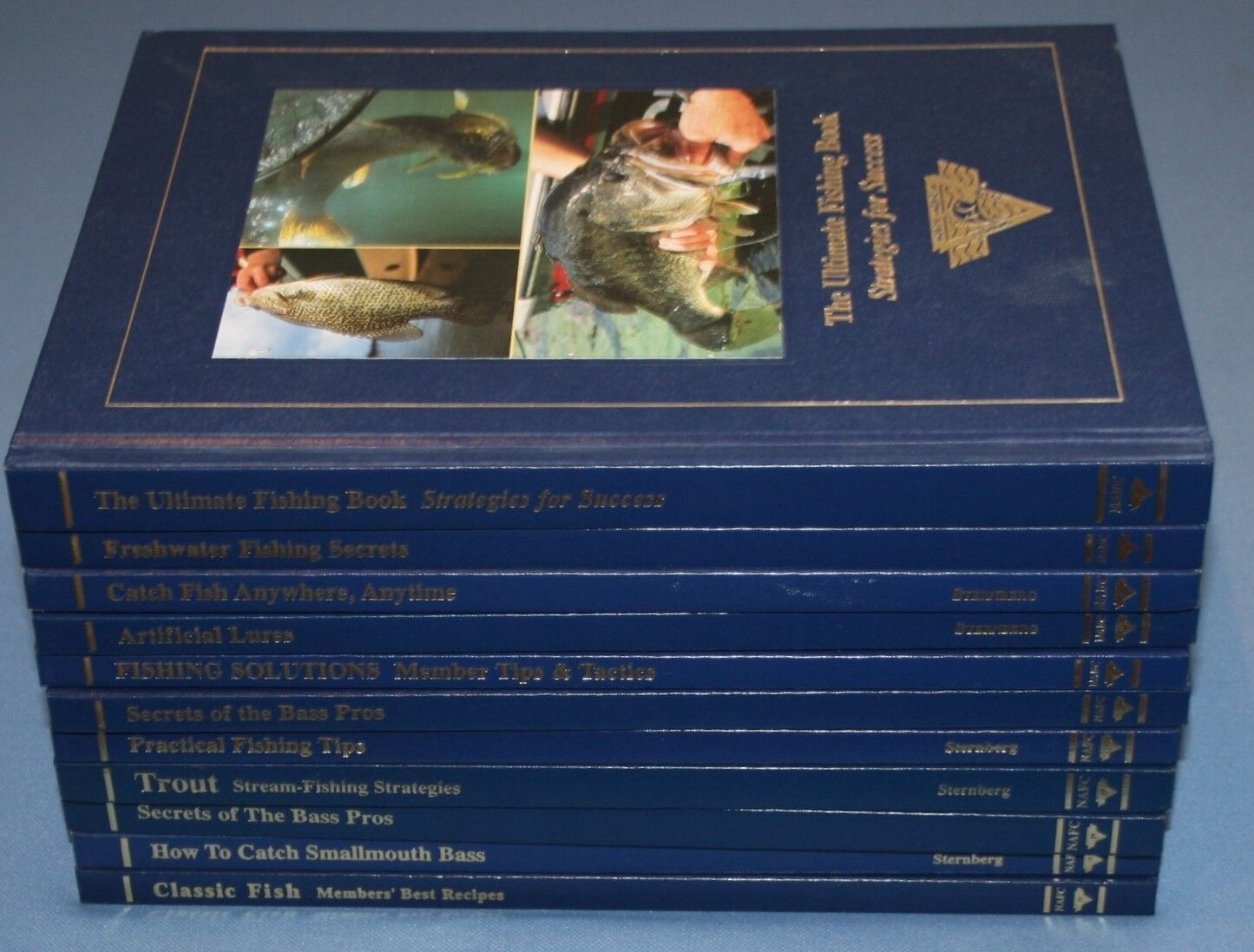 North American Fishing Club Hardcover Books Set 10 pcs Bass Trout Practical Tips
