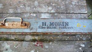Objet-de-Metier-outil-Vintage-Mire-de-Geometre-1940-Ets-Morin-Paris-Bois-Acier