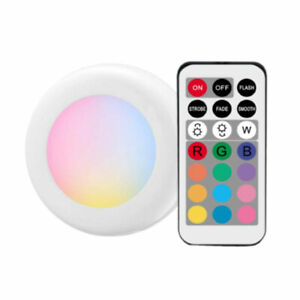 6-pack-RGB-Wireless-Remote-Control-Battery-Operated-Under-Cabinet-SMD-LED-Light