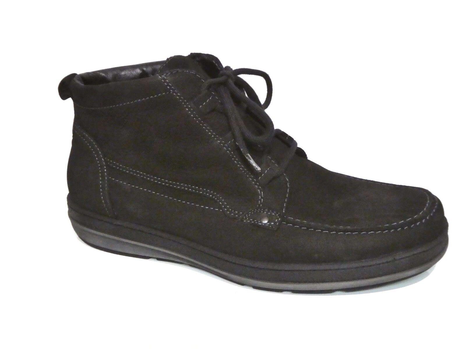 Waldläufer Herren Schuhe Boots Stiefel Warmfutter Havel schwarz Leder Weit NEU