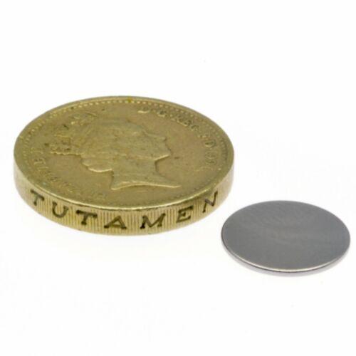 """Mince Petit Disque Aimant 0.5 kg Pull Super Fort Aimants 1//2/"""" x 1//32/"""" Puissant"""