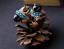 black turquoise Earrings Vintage Crystal round Jewelry Stud  hinged back new