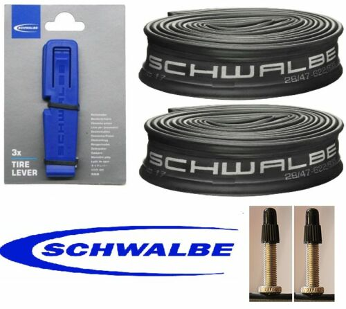 2 x Schwalbe 700x38c PV Inner Tubes /&  3 Schwalbe Tyre Levers Tracked Delivery