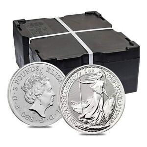 Monster Box of 500 - 2020 Great Britain 1 oz Silver Britannia Coin .999 Fine BU