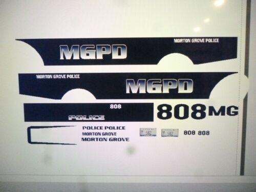 Morton Grove Illinois Police Patrol Car  Decals 1:24