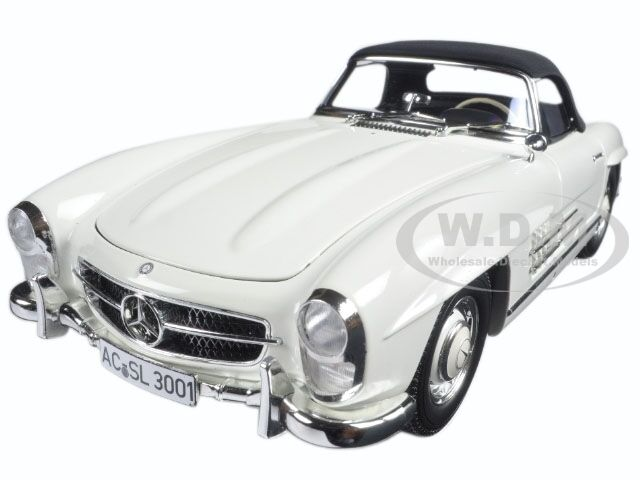 1957 MERCEDES 300 SL W198 blanco LTD 504pc 1 18 DIECAST BY MINICHAMPS 180039034