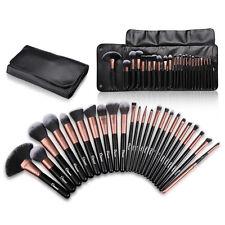 Ovonni 24Pcs Professional Soft Makeup Blush Brush Cosmetic Kabuki Set Kit + Case